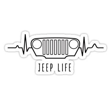 Jeep Life White Sticker By Oldskooldesign En 2020 Cj Jeep