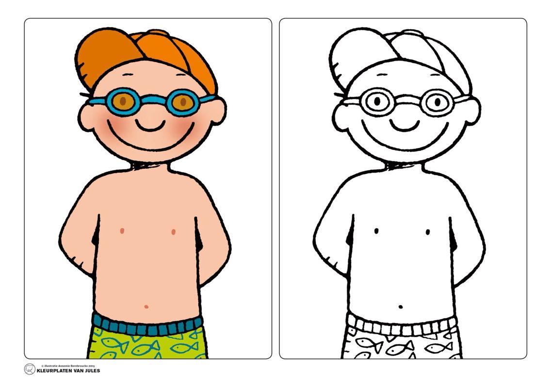 jules zwemmen thema peuter strand vakantie