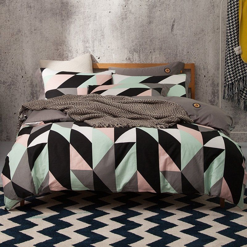 Bed Linens Luxury Bedding Sets, Pink Grey And Mint Bedding