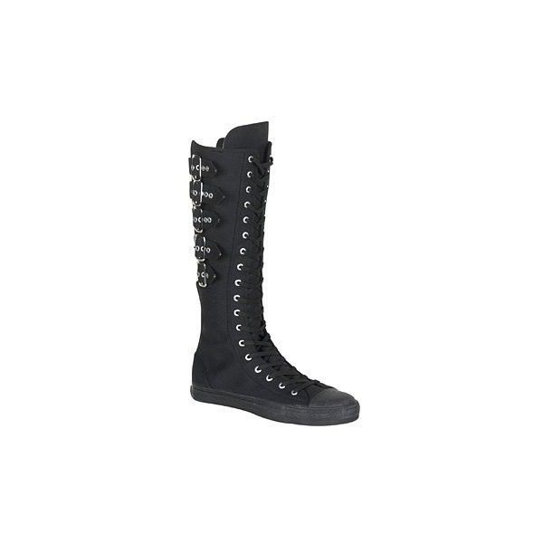 Demonia By Pleaser Deviant-310 Sneaker Boot ($59) ❤ liked on Polyvore