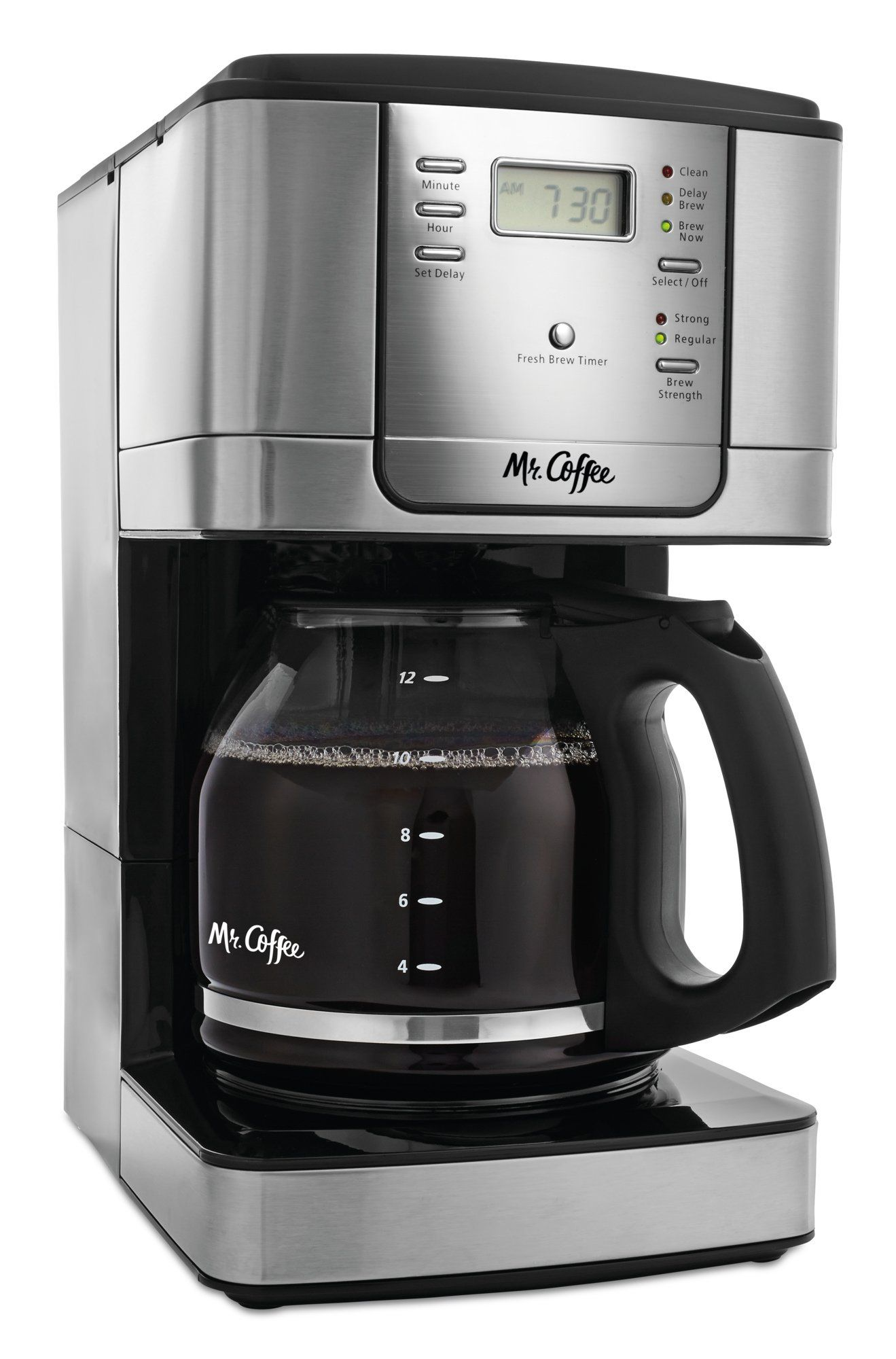 Mr. Coffee 12Cup Programmable Coffee Maker Stainless Steel