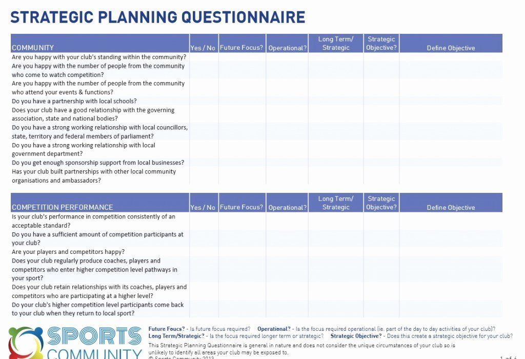 30 Strategic Planning Template Excel in 2020 Strategic