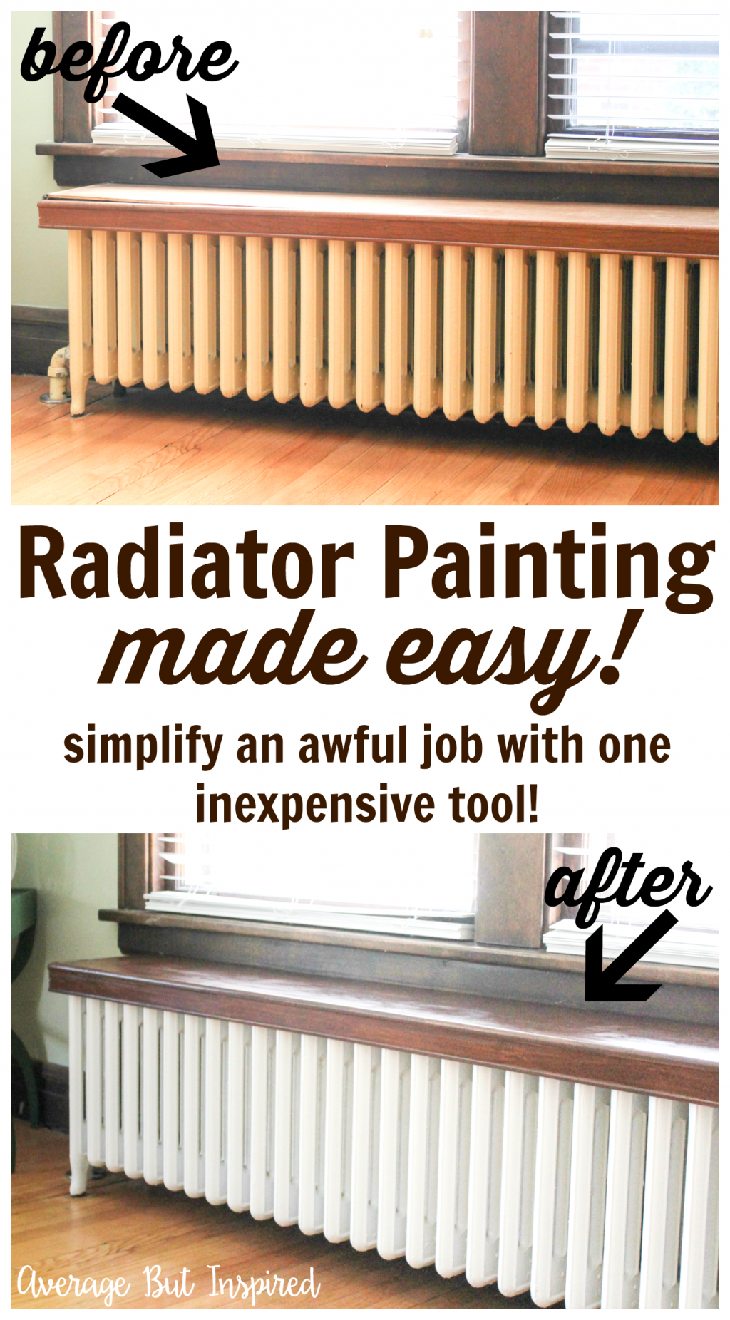 How To Paint A Radiator The Easy Way Home Radiators Diy Radiator Cover Home