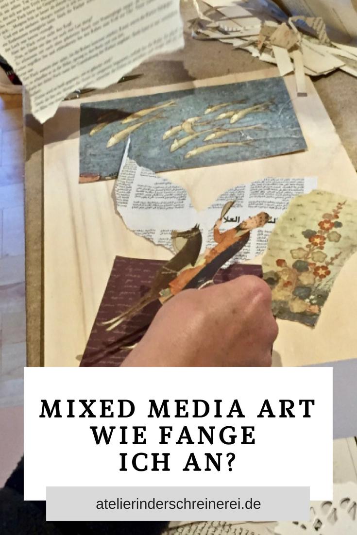Mixed Media Collagen herzustellen ist ganz einfach und macht viel Spaß. #mixedm…