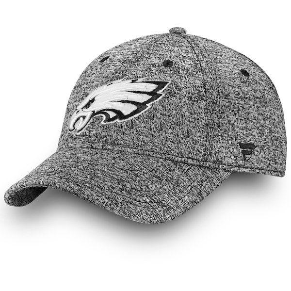 Philadelphia Eagles NFL Pro Line by Fanatics Branded Black   White Fundamental  Adjustable Hat Heathered Gray a5664e62c