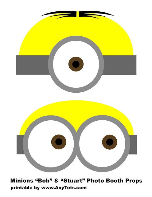 picture about Minion Printable Eyes called Minions Celebration Booth Props Free of charge Printables + Balloon Tower