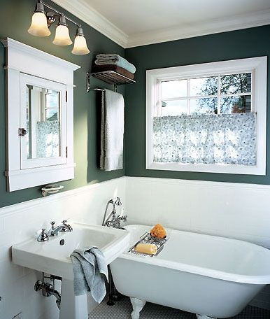 salle-de-bain-couleur-vert-anglais-style-anglais in 2019 ...