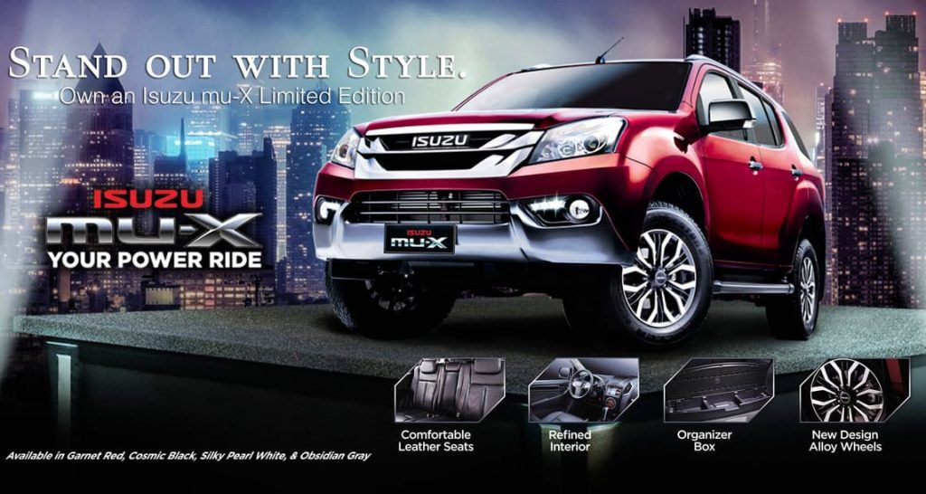 Isuzu Mu X Limited Edition Comes To Philippines Philippines Day