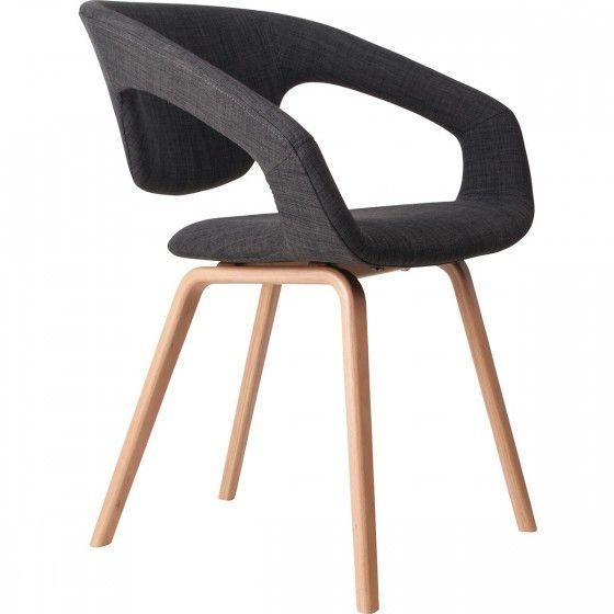 Fauteuil design Flex Back pieds naturels Embellir le salon et la