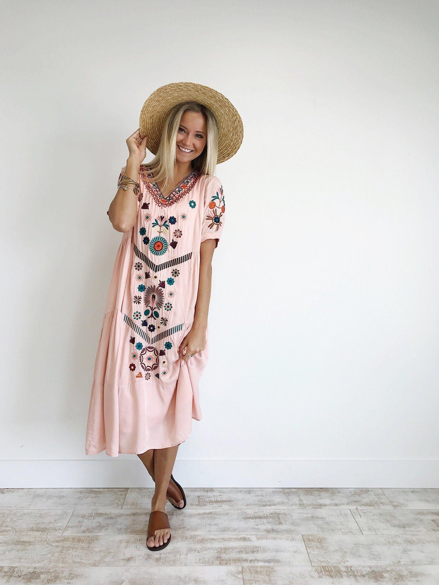 Rose floral embroidered summer dress | ROOLEE | ROOLEE Picks ...