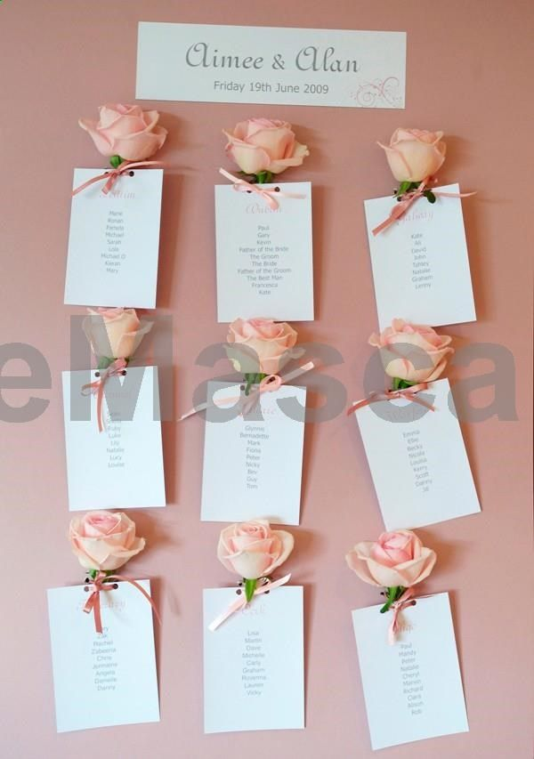 Add a rose to your wedding table plan cards - this is a lovely idea if you are looking for pink wedding decorations #weddings #wedding #marriage #weddingdress #weddinggown #ballgowns #ladies #woman #women #beautifuldress #newlyweds #proposal #shopping #engagement