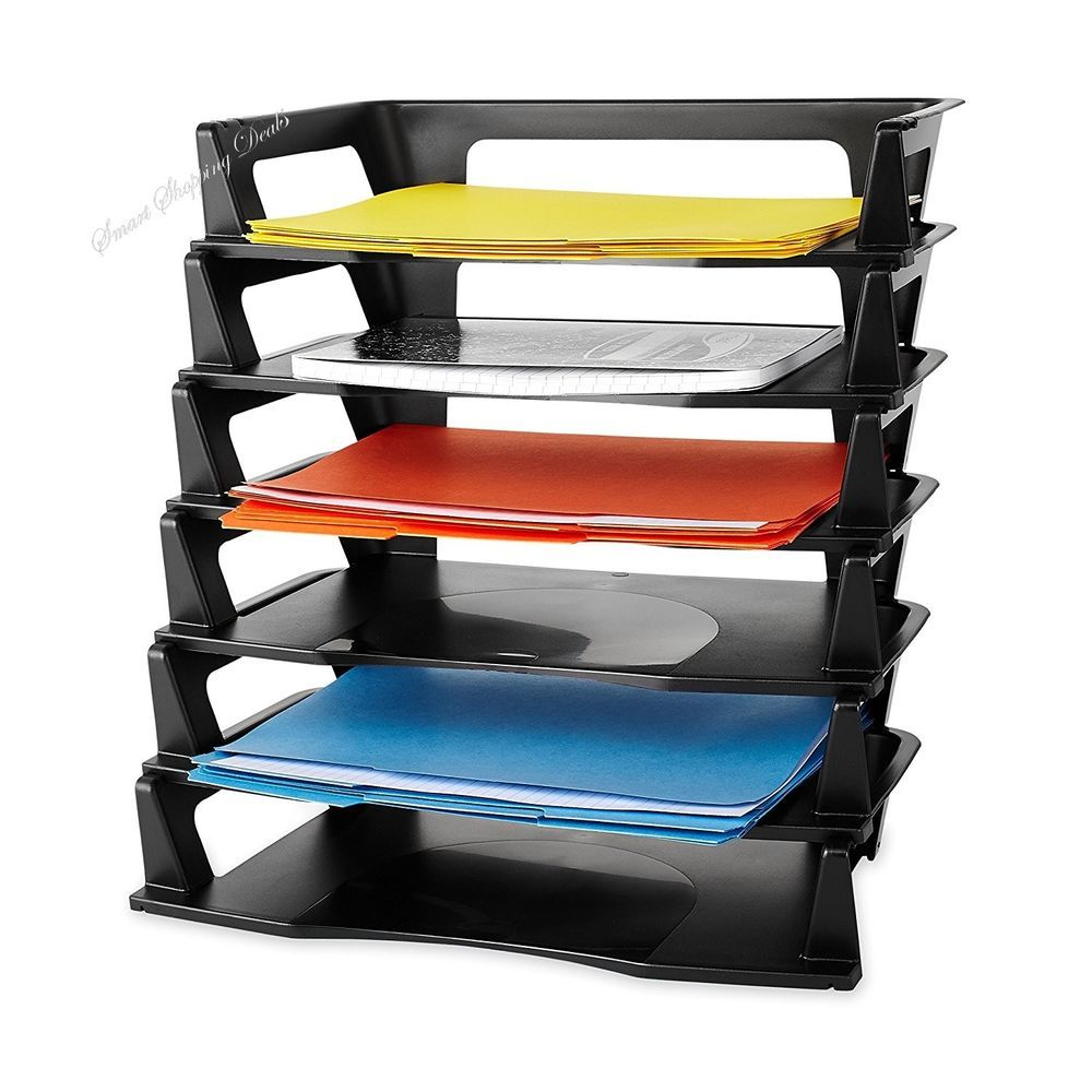 Plastic Letter Tray File Holders Hold Doents Desktop Trays Office Supplies
