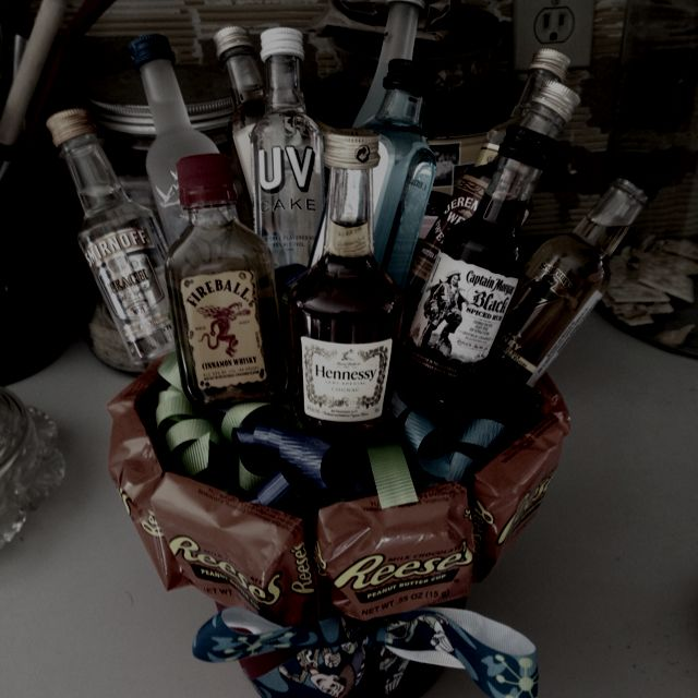 Shot Bouquet I Made For My Boyfriends 21st Birthday