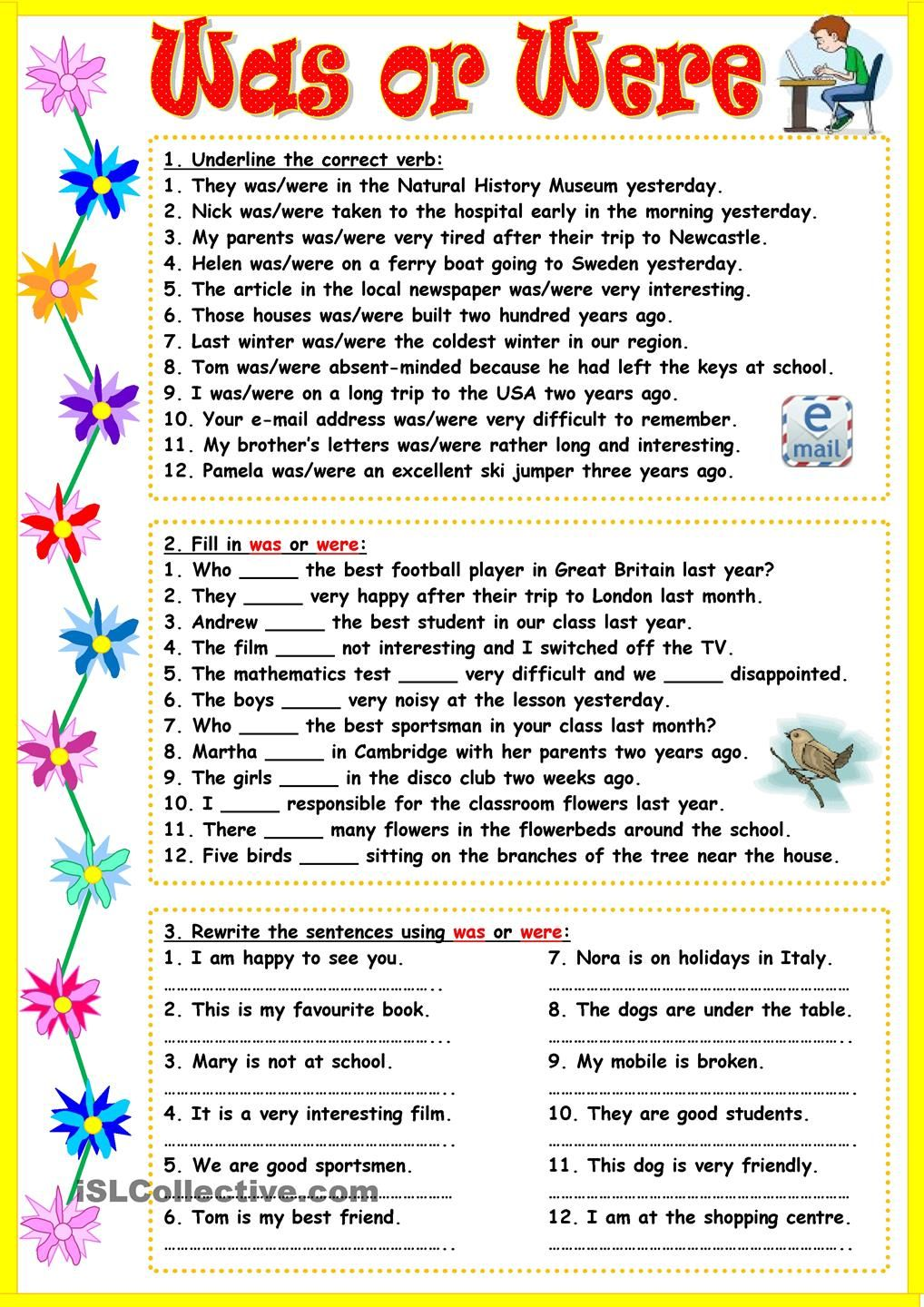 worksheet Were And Where Worksheets xo was were enislcollective jpg engleza pinterest jpg