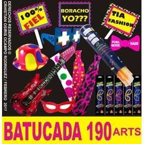 07bcef0a88ed Paquete Batucada Fiesta Boda Lente Pulseras Neon Luz Peluca