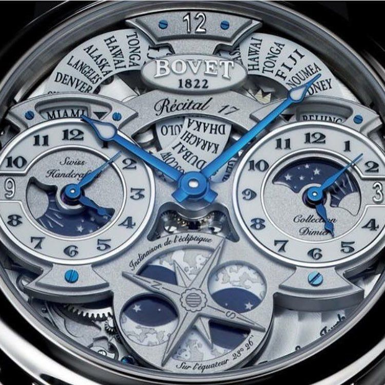 R 233 Cital 17 By Bovet1822 Check Out That Openworked Dial