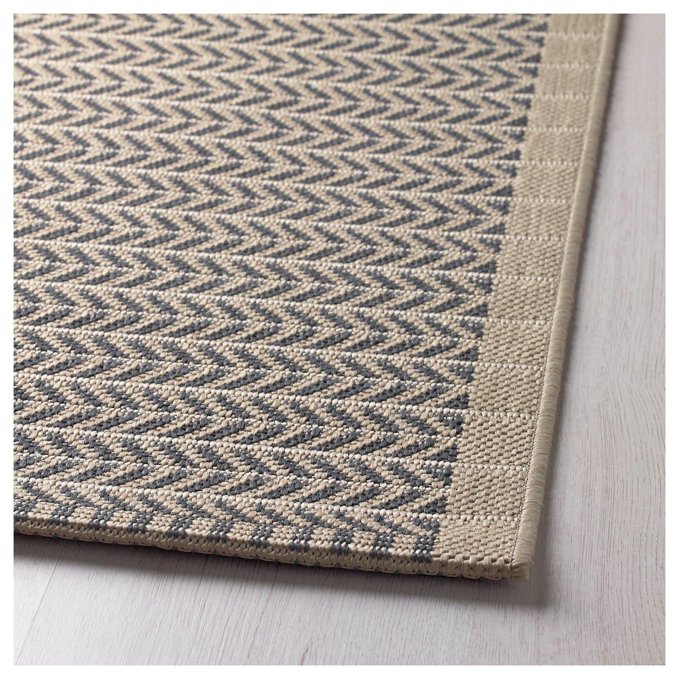 LOBBÄK Teppich flach gewebt, drinnen/drau beige drinnen/draußen #outdoorrugs
