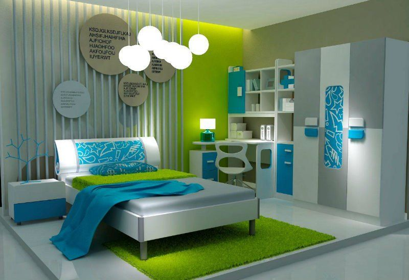 Girls Bedroom Design With Low Hanging Pendant Lamp Feats Round Shade Along Stands Free King Size B Ikea Sets Kids Room Childrens
