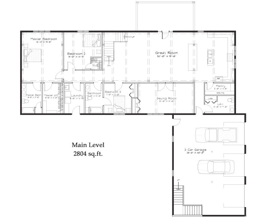 paducah-timber-home-plan-main.png (862×700) | Floor Plans ...