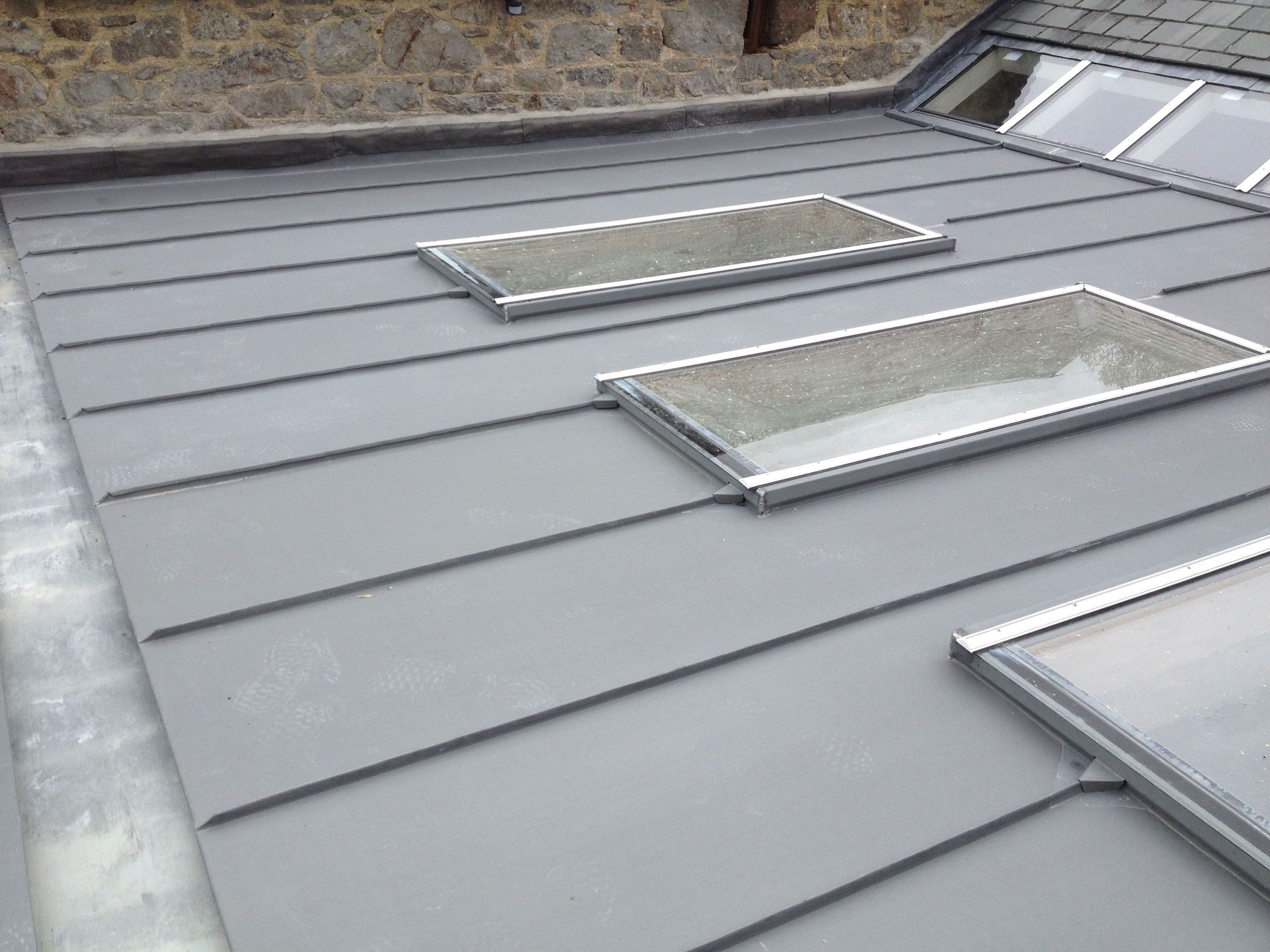 Image Result For Zinc Roof Corner Zinc Roof Glass Roof Flat Roof Extension
