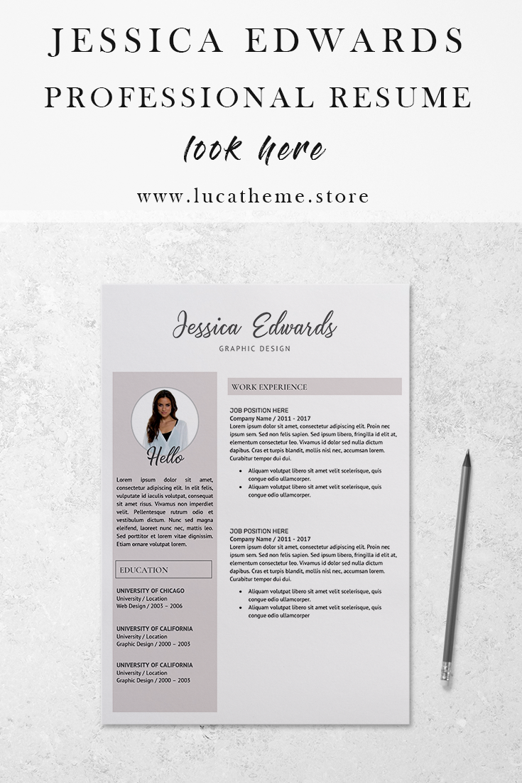 digital resume  student resume template  jessica edwards