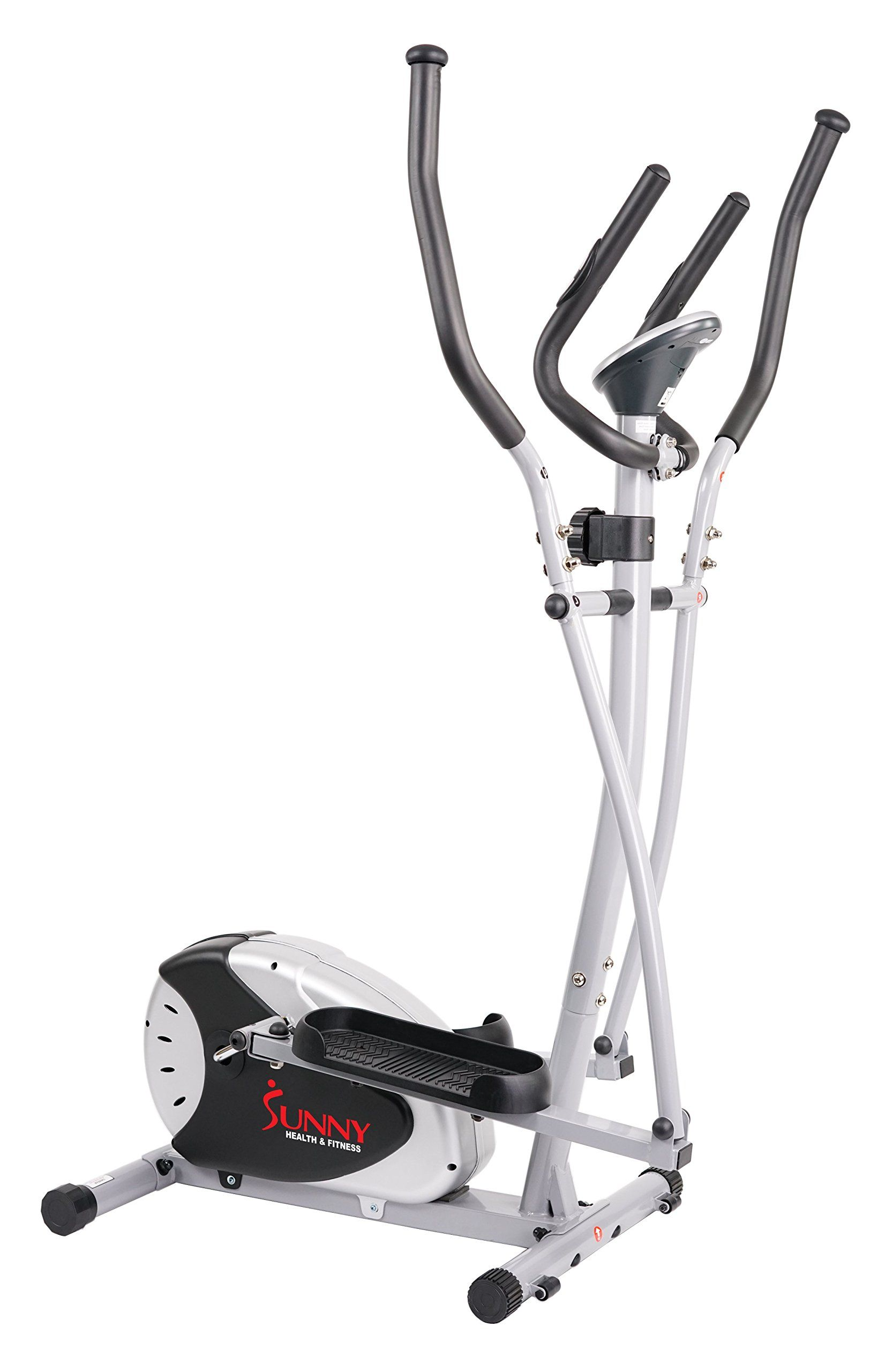Elliptical trainer with hand pulse monitoring system by