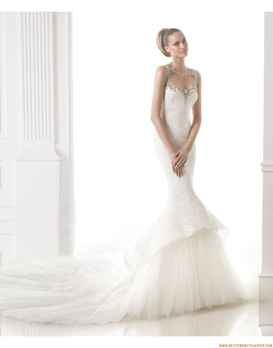 2015 Meerjungfrau Außergewöhnliche Luxuriöse Brautkleider aus ...