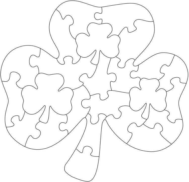 Dekupiersage Vorlagen Kostenlos Ausdrucken Puzzle Klee Kinder Dekupiersage Vorlagen Kostenlose Schablonen Holzpuzzle