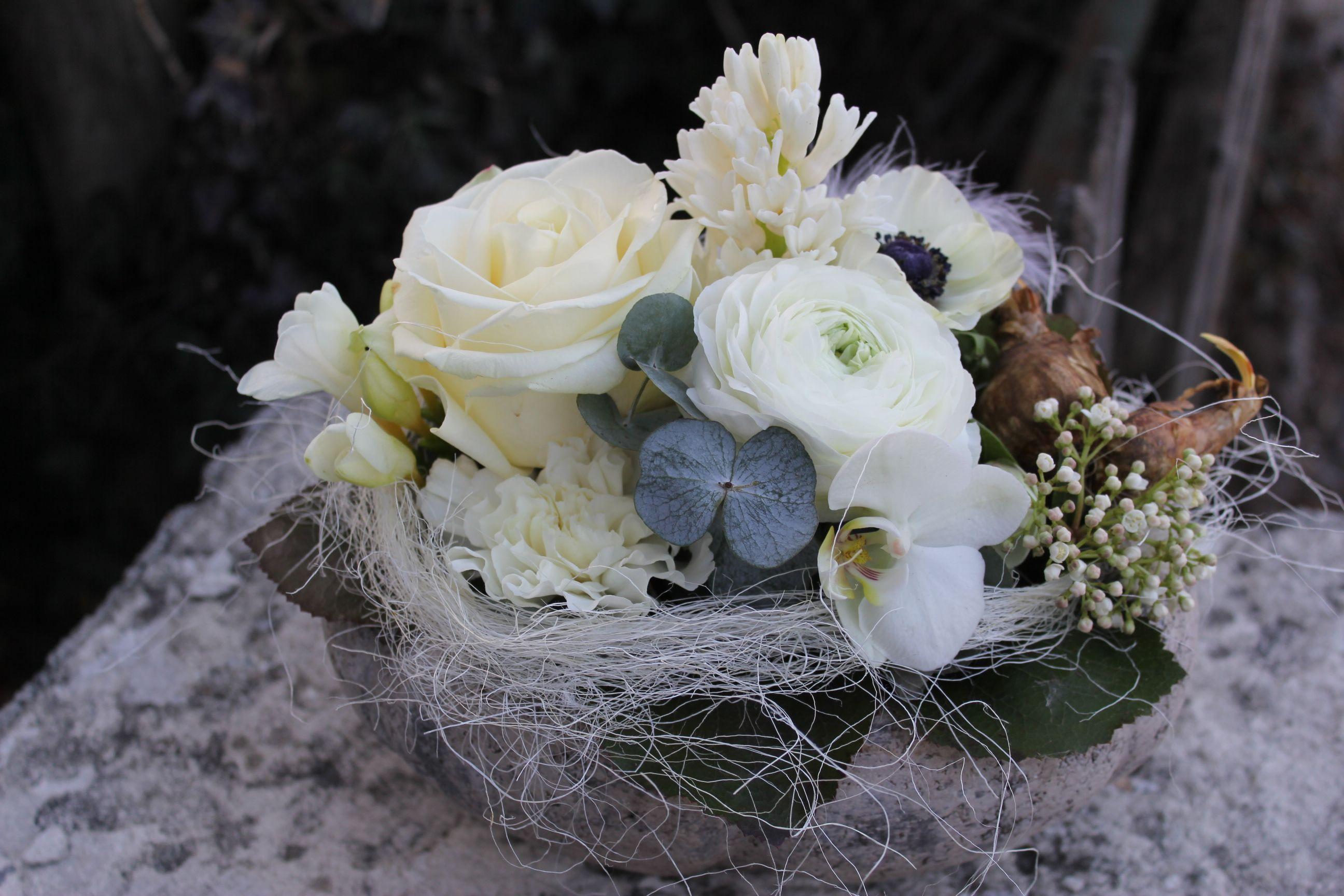 Deko Flora Line blumengesteck weiss floristik blumengestecke weiss