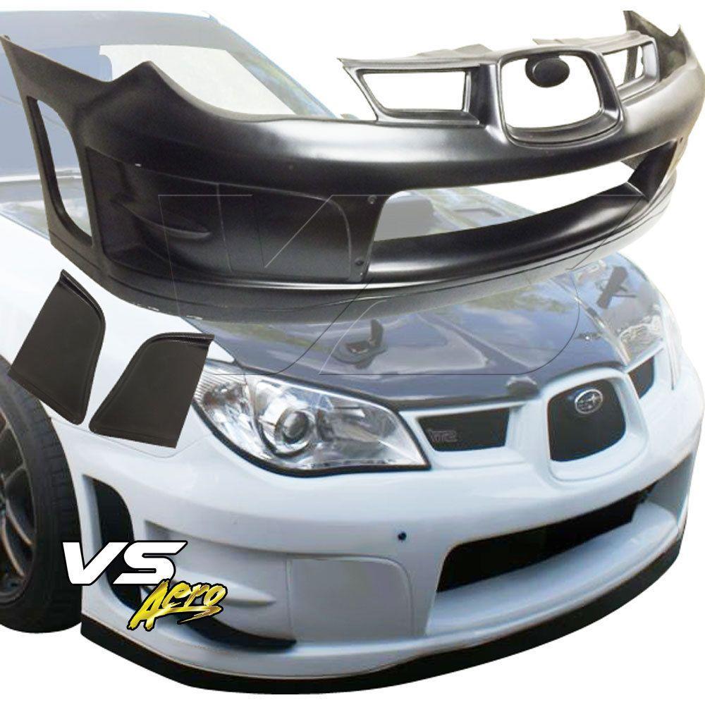 1de2b228c89 2006-2007 Wrc Front Bumper Body Kit 3pc For Subaru Impreza Wrx 06-07  VSaero