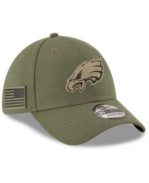 New Era Philadelphia Eagles Salute To Service 39THIRTY Cap - Green M ... 4c91a4ee7