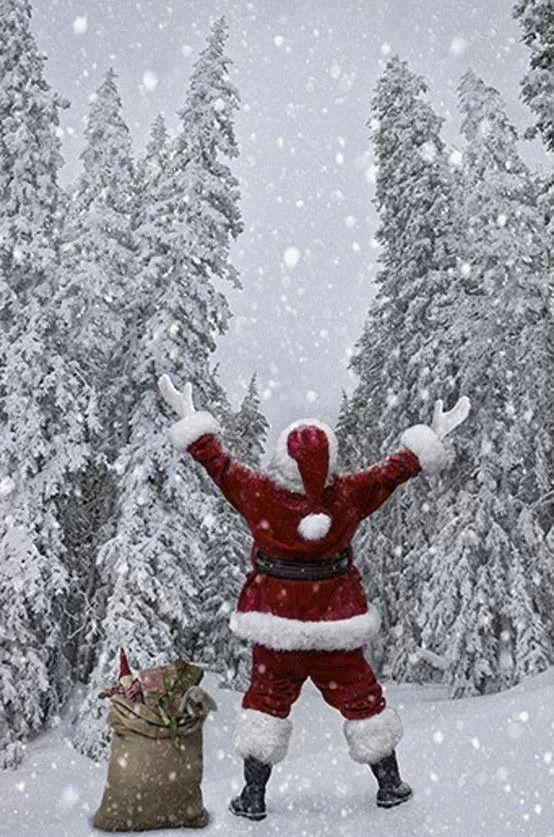 Santa loving the snow
