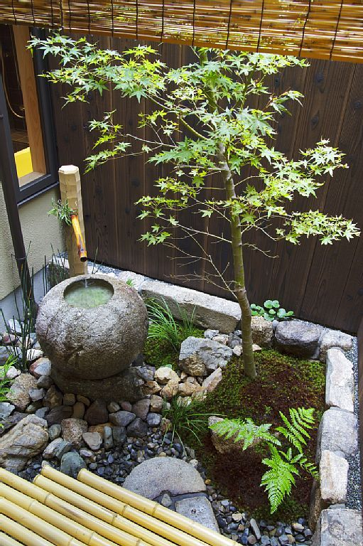 Kyoto townhome rental tsuboniwa townhouse garden with - Small japanese garden ideas ...