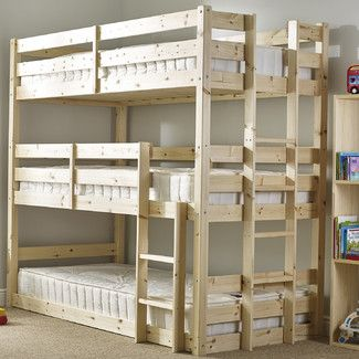 Strong Hazelwood Home Strong Derby 3 Tier Triple Sleeper Bunk Bed