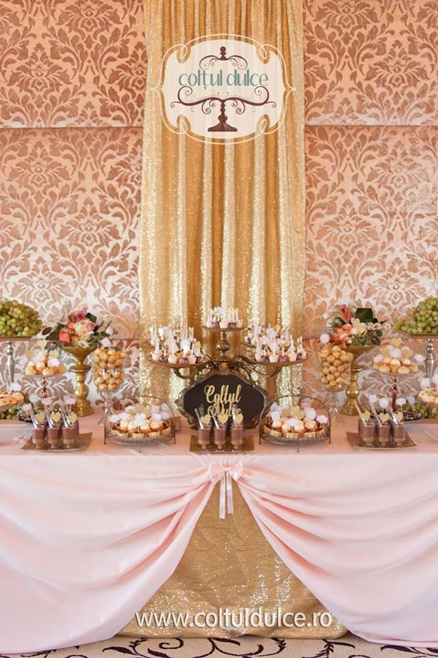 Gold Pink Theme Great Gatsby Candy Bar Candy Buffet