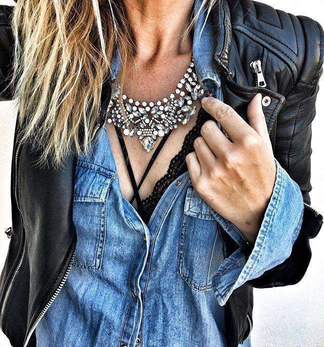 Collar Llamativo Glamour Vintage