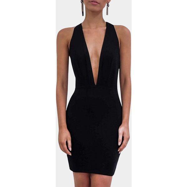 23+ Black v neck dress info