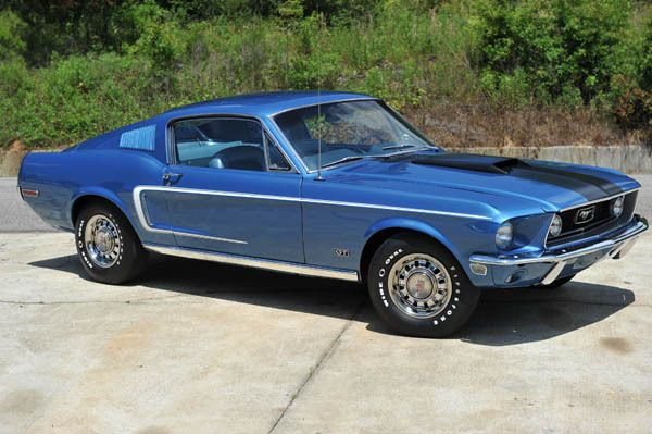1968 ford mustang gt fastback 428 cobra jet r code in acapulco blue