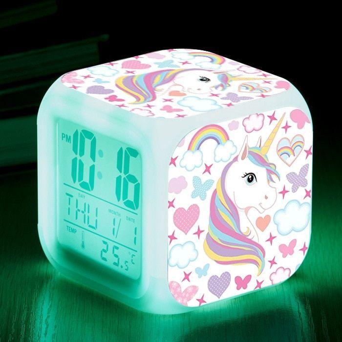 7 Color Level Light-Changing Alarm Clock | Unilovers#alarm #clock #color #level #lightchanging #unilovers