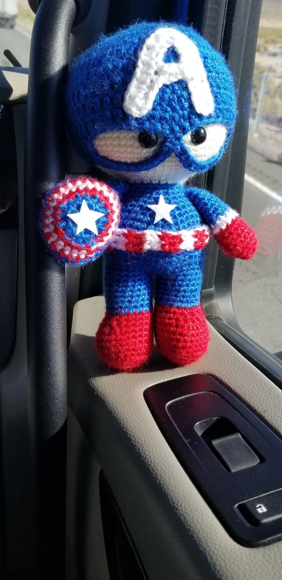 Crochet Captain America Doll Weebee Doll Agurimi Pinterest