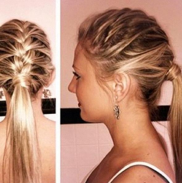french braid into ponytail | Hair | Pinterest | French ...