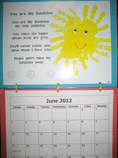Handprint Calendar June Poem 8 Calendar Craft Handprint Calendar Homemade Calendar