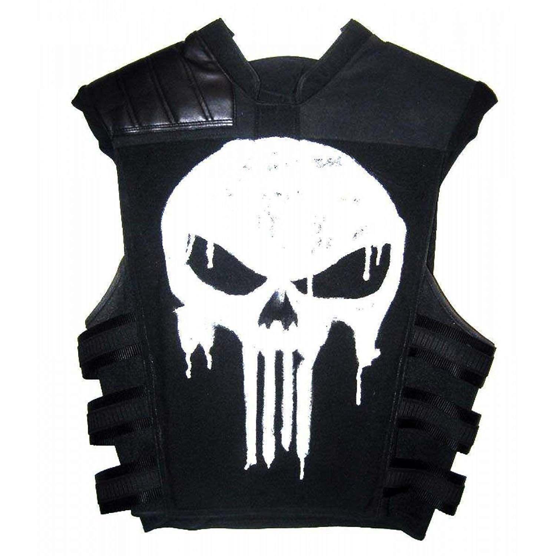 The Punisher Costume Leather Coat Vest Jacket Black Leather Vest Stylish Vests Leather Vest [ 1500 x 1500 Pixel ]