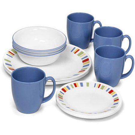 Corelle Livingware Memphis 16 Piece Dinnerware Set  sc 1 st  Pinterest & Corelle Livingware Memphis 16 Piece Dinnerware Set | Dishware ...