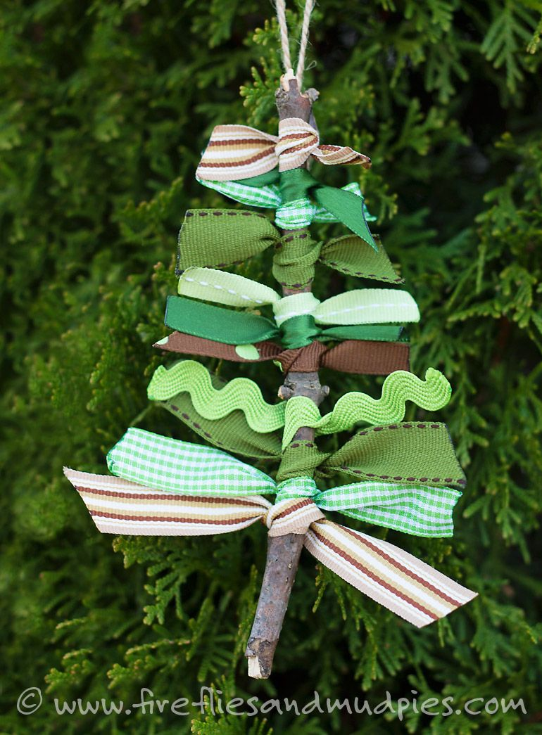Scrap Ribbon Tree Ornaments Recipe Christmas ornaments