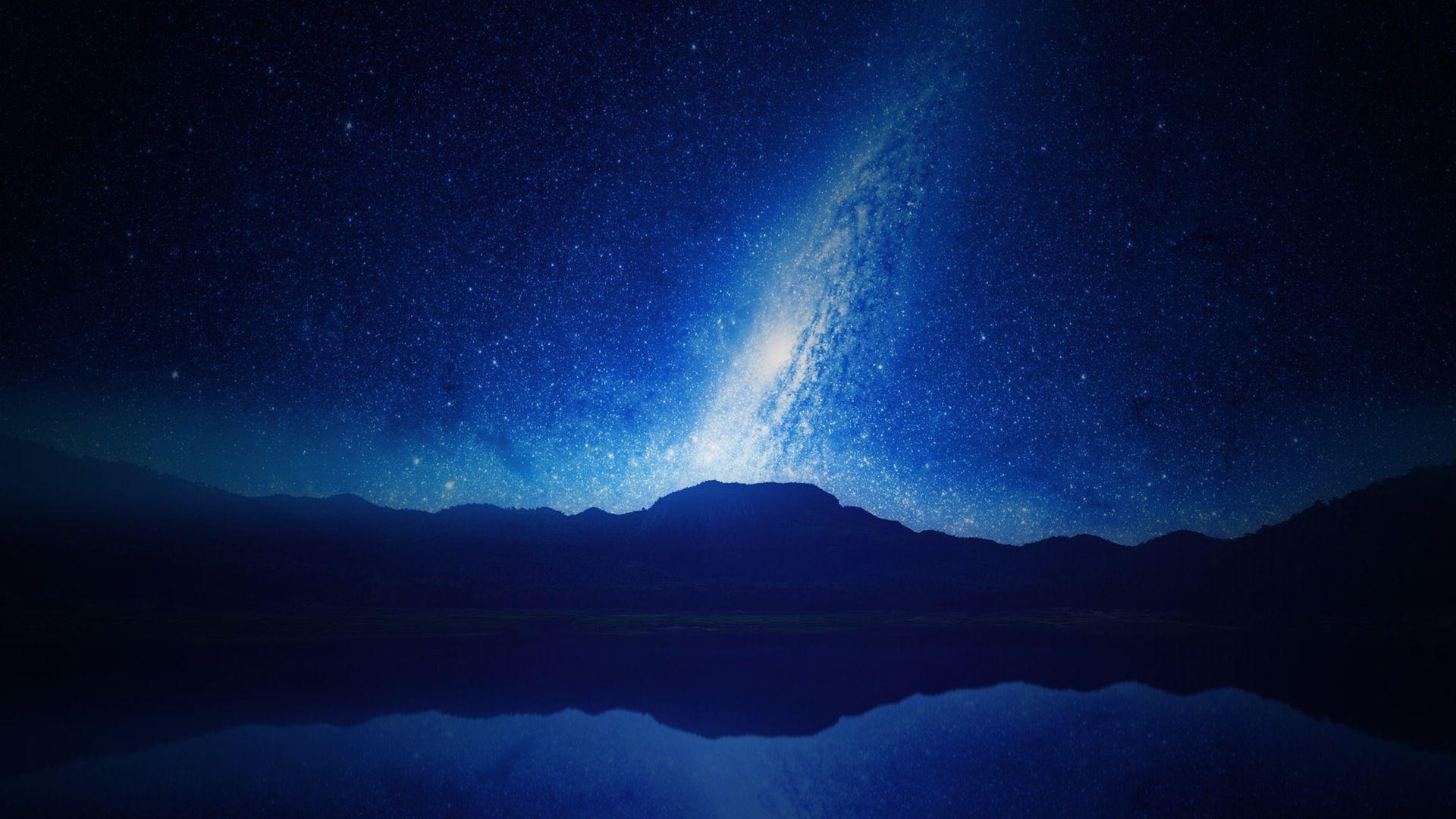 cielo, nocturna, estrellas, montañas, firmamento, galaxia, vía láctea - Fondos de Pantalla HD - professor-falken.com