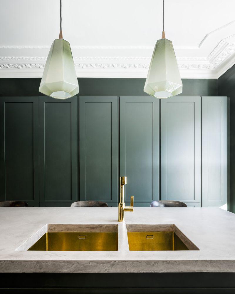 Niedlich Beleuchtungsmöglichkeiten Für Die Küche Mit Gewölbter Decke ...