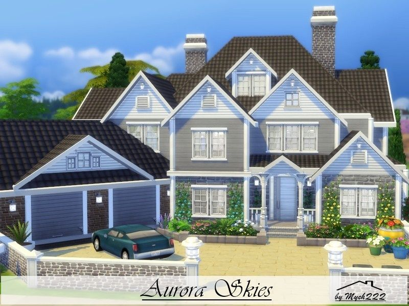 Aurora skies is  suburban family home built on lot in newcrest found tsr category  sims residential lots also best houses images rh pinterest