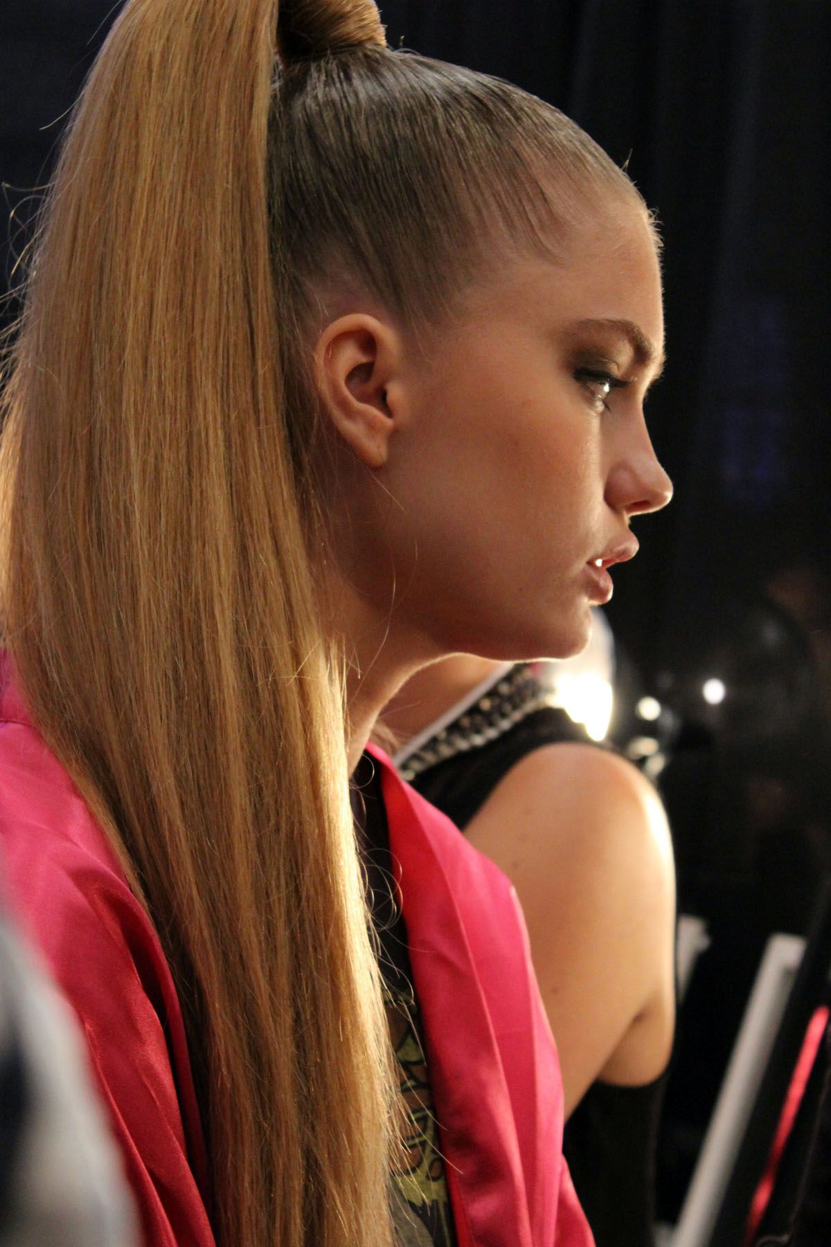 Ponytail Hairstyle Miami Beach Fashion Week Swim Sleek High Ponytail