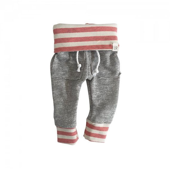 pink girl sweatpants modern girl sweats organic by ShopLuluandRoo